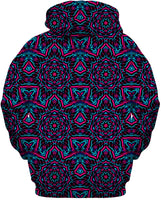 Blue and Pink Mandala Collage Hoodie