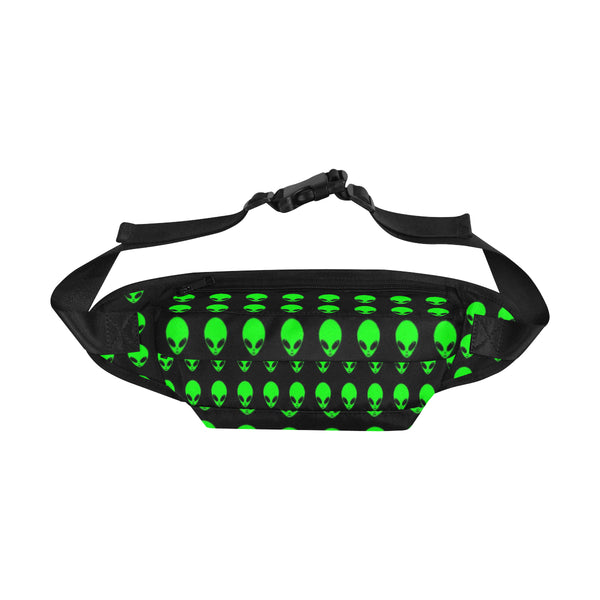 Green Alien Head Fanny Pack
