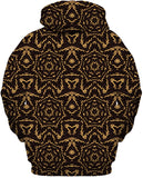 Black and Gold Mandala Collage Hoodie