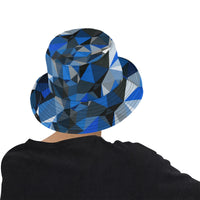 Blue and Black Geo Print Bucket Hat | BigTexFunkadelic