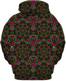 Pink and Green Mandala Collage Hoodie
