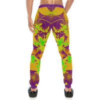 Color Splat Abstract Men's All Over Print Sweatpants