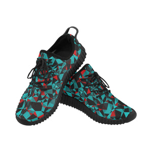 Geo Print Men's Breathable Woven Running Shoes | BigTexFunkadelic