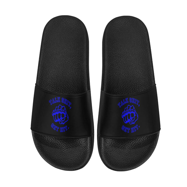 Talk Shit Get Hit Men's Slide Sandals | BigTexFunkadelic