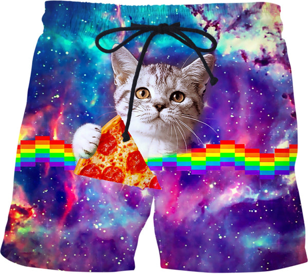 Pizza Cat Swim Shorts | BigTexFunkadelic