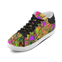 90s Color Splash Men's Chukka Sneakers | BigTexFunkadelic