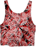 Red Psychedelic Crop Top