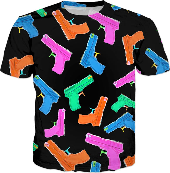 Water Gun All Over Print T-Shirt | BigTexFunkadelic