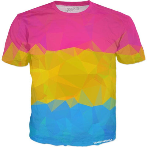Geometric Pansexual Pride All Over Print T-Shirt