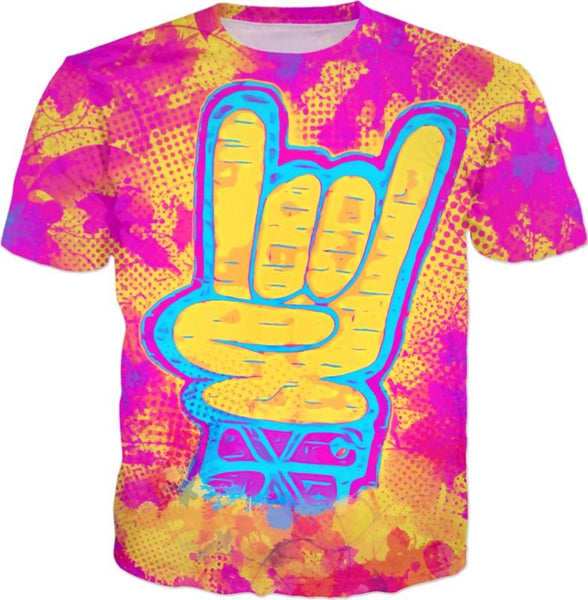 Rock On All Over Print T-Shirt