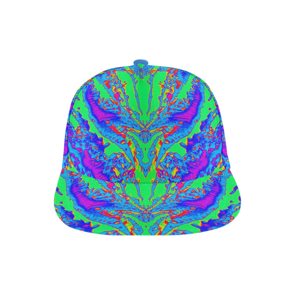Neon Atomic Butterfly Snapback | Rave Inspired | BigTexFunkadelic