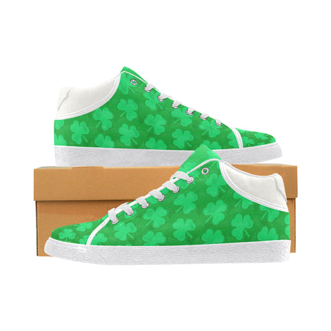 St. Patrick's Day Clovers Men's Chukka Sneakers