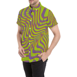 Mystery Machine Psychedelia Button Down Short Sleeve Shirt | BigTexFunkadelic