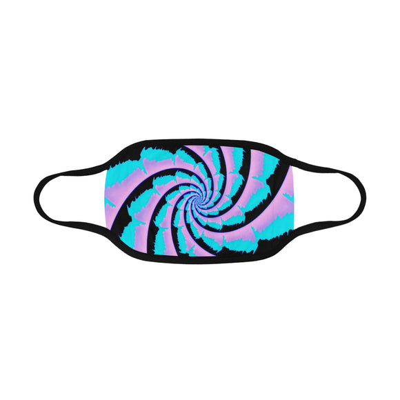 Cotton Candy Fractal Mouth Mask | BigTexFunkadelic