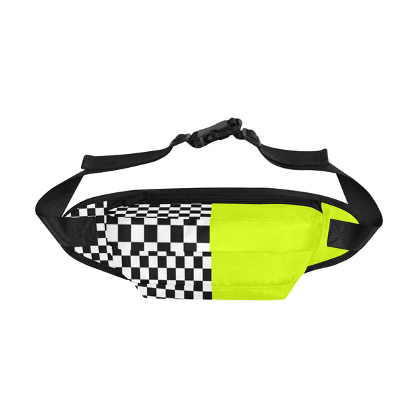 Neon Checkered Split Fanny Pack | BigTexFunkadelic
