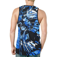 Blue Psychedelic Relaxed Fit Men's Tank Top | BigTexFunkadelic