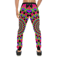 Neon Kaleidoscope Mandala Men's All Over Print Jogger Sweatpants
