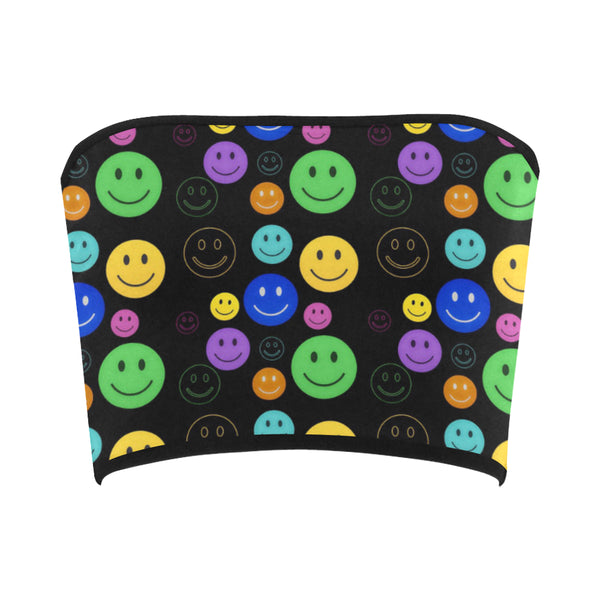 Smiley Face Bandeau Top | EDM Festival Fashion | BigTexFunkadelic
