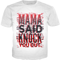 Mama Said Knock You Out (Red/Black) Graphic Tee