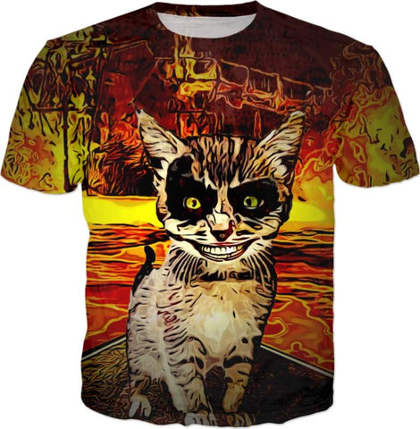 Demon Kitty All Over Print T-Shirt