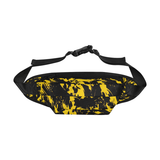 Black and Yellow Graffiti Paint Splat Fanny Pack | Streetwear Accessories | BigTexFunkadelic