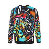 Streetart Chaos Colorful Graffiti Men's Big & Tall Oversized Fleece Crewneck Sweatshirt | BigTexFunkadelic