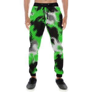 Green Rave Abstract Men's Big & Tall All Over Print Jogger Sweatpants | BigTexFunkadelic