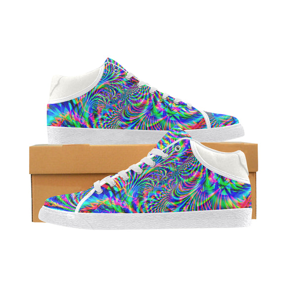 Psychedelic Tropical Rave Men's Chukka Sneakers | EDM Inspired | BigTexFunkadelic