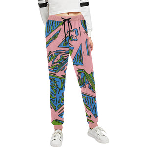 Urban Geo Frenzy Women's All Over Print Jogger Sweatpants | BigTexFunkadelic
