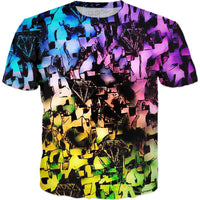 Rainbow Graffiti Ruins All Over Print T-Shirt