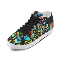 Urban Graffiti Men's Chukka Canvas Shoes | BigTexFunkadelic