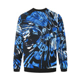 Blue Psychedelic Men's Big & Tall Oversized Fleece Crewneck Sweatshirt | BigTexFunkadelic