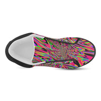 Neon Acid Waves Men's Chukka Canvas Shoes