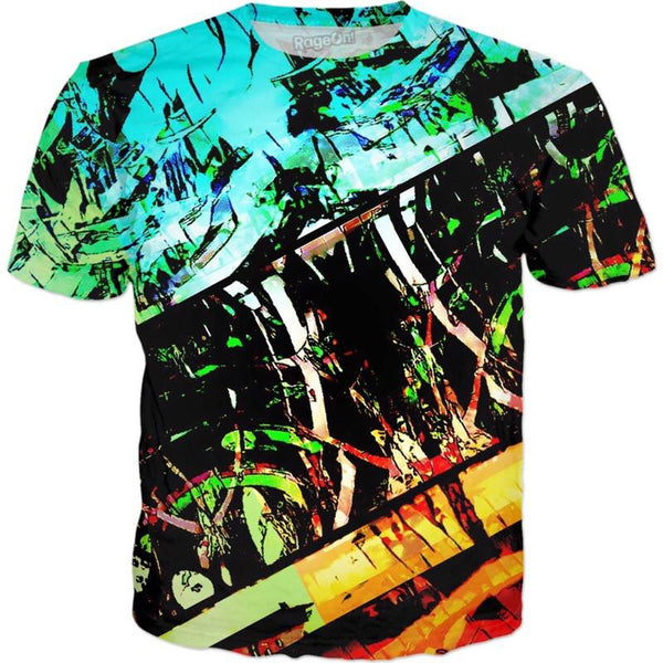 Tropical Sunrise Graffiti All Over Print T-Shirt