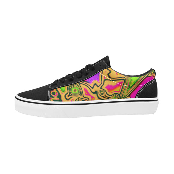 90s Colorsplash Men's Low Top Skateboarding Shoes | BigTexFunkadelic