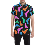 Neon Water Gun Button Down Short Sleeve Shirt | BigTexFunkadelic