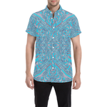 Geo Print Button Down Short Sleeve Shirt | BigTexFunkadelic
