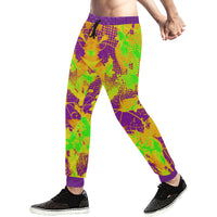 Color Splat Abstract Men's All Over Print Jogger Sweatpants