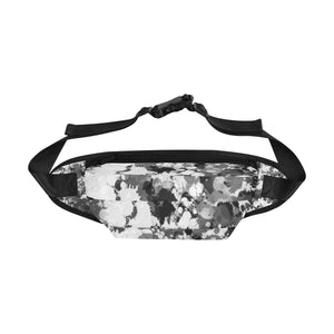 Black and White Paint Splatter Fanny Pack | BigTexFunkadelic