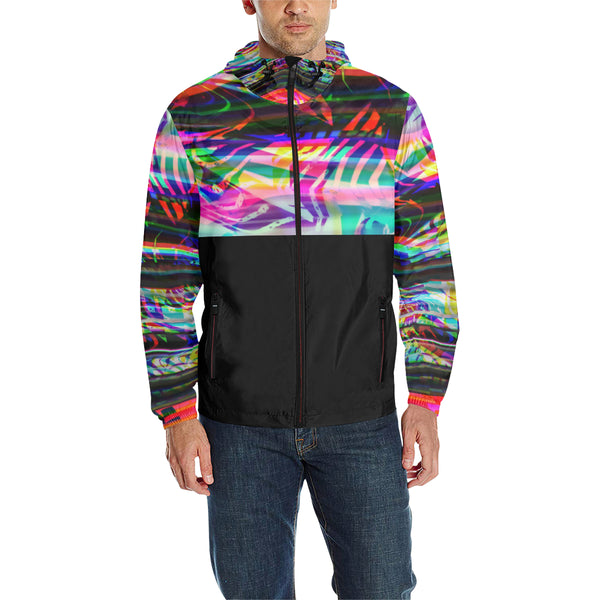 Rave Static Quilted Windbreaker | BigTexFunkadelic