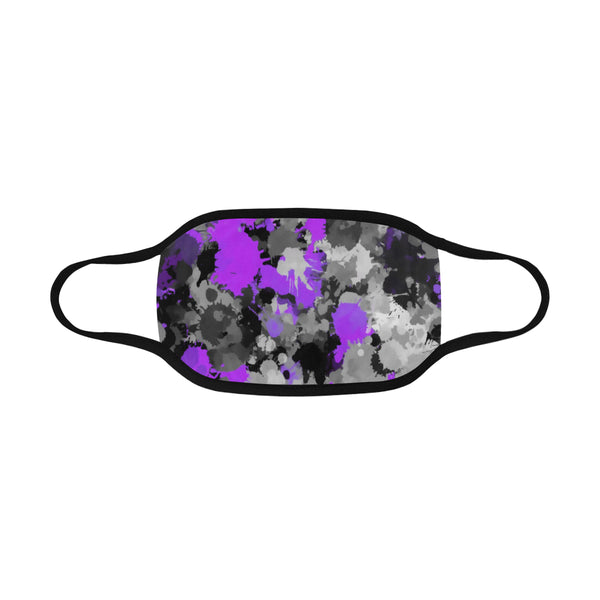 Purple and Grey Paint Splatter Mouth Mask | BigTexFunkadelic