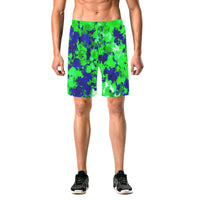 Blue and Green Paint Splatter Casual Shorts