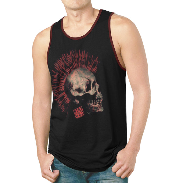 Stay Wild Punk Skull Relaxed Fit Men's Tank Top | BigTexFunkadelic
