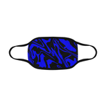 Blue and Black Abstract Melt Mouth Mask *Ready To Ship* | BigTexFunkadelic