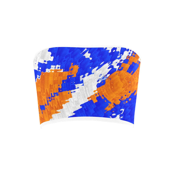 Blue and Orange Bass Drop Bandeau Top | BigTexFunkadelic