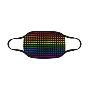 Gay Pride Rainbow Hearts Mouth Mask *Ready To Ship* | BigTexFunkadelic