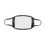 Gay Pride Rainbow Hearts Mouth Mask *Ready To Ship*