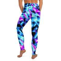 Psychedelic Vaporwave High-Waisted Yoga Leggings | BigTexFunkadelic