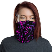 Pink Midnight Oil Slick Neck Gaiter Mask