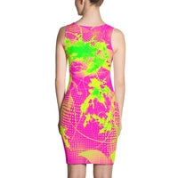 80s Summer Pop Bodycon Dress | BigTexFunkadelic